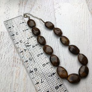 Vintage Marbled bead necklace